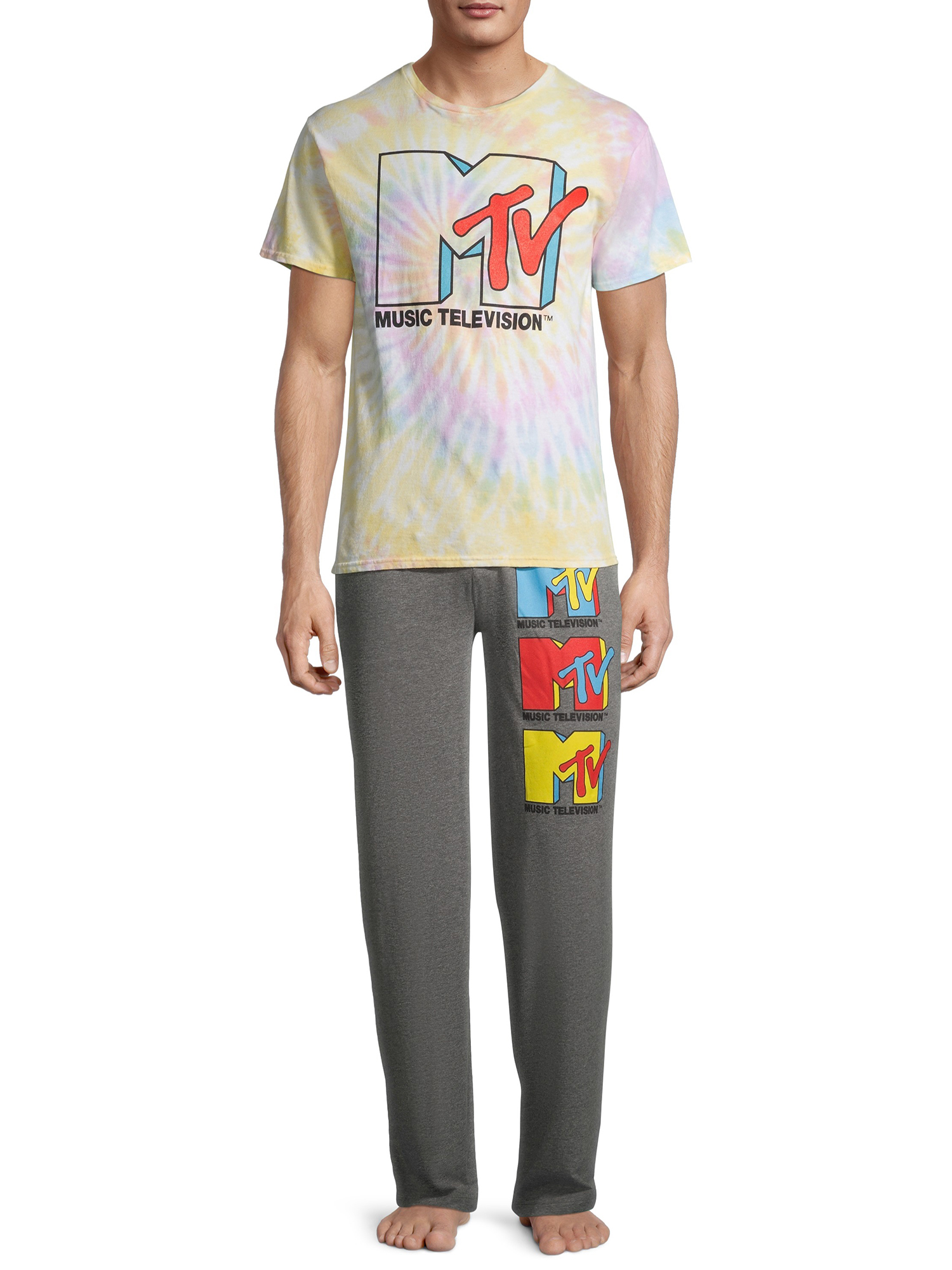 MTV - MTV Men's Tie Dye Lounge Set - Walmart.com