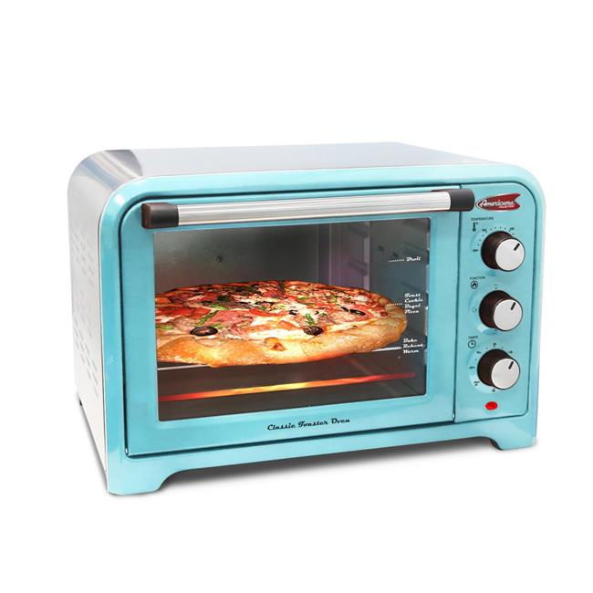 Maximatic 6-Slice Toaster Oven, Blue
