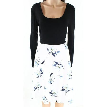 b11d32a42432 Huhot Dresses - Huhot Womens Colorblock Floral-Print A-Line Dress -  Walmart.com