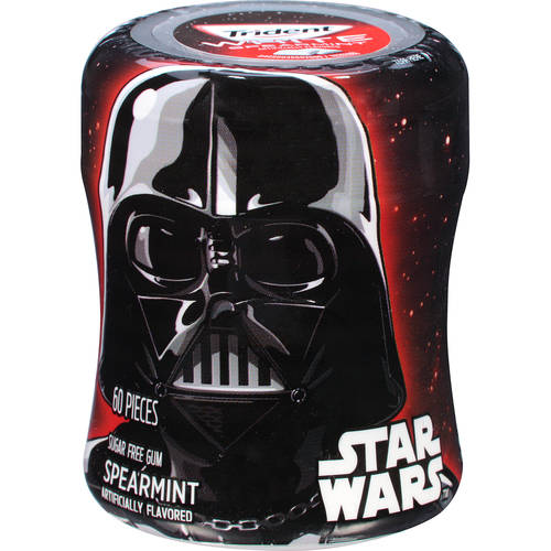Trident White Star Wars Darth Vader Spearmint Sugar Free Gum, 60 ct, 2.94 oz