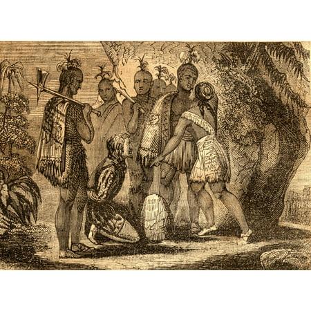 Pocahontas Interceding For The Life Of Smith 1607 Captain John Smith 1580-1631 English Soldier And Explorer Pocahontas (Matoaka) 1595-1617 Algonqiuan Indian Princess Canvas Art - Ken Welsh  Design Pic (Pocahontas And John Smith Costumes For Adults)