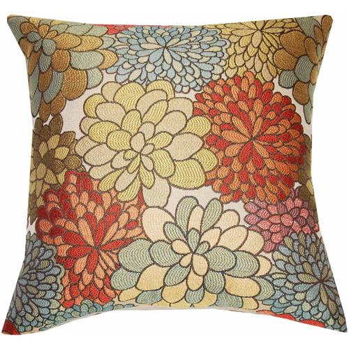 Click here to buy Better Homes and Gardens Mumsfield Floral Decor Pillow by Spencer Enterprises.