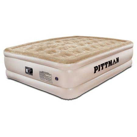 Pittman Queen Comfort Double High Air Mattress with Built-in Electric Pump