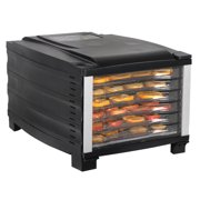 Zeny Electric Portable Food Dehydrator Machine - Digital Timer and Temperature Control - 6 Drying Trays - Perfect for Beef Jerky, Herbs, Fruit