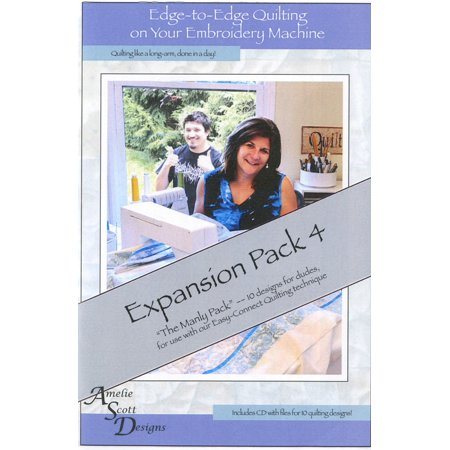 Edge to Edge Quilting On Your Embroidery Machine Expansion Pack 4