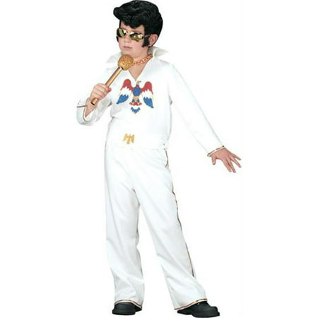 Costumes For All Occasions Xr40085Sm Elvis Child Wht Jumpsuit Sm (Elvis Costume For Child)