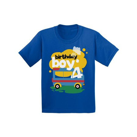 Awkward Styles Toy Truck Birthday Boy Toddler Shirt 4th For Boys Themed Party Fourth Gifts 4 Year Old