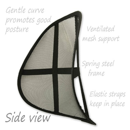 Relief for Your Back! Mesh Back Support Cushion Office Home Car