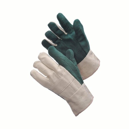 Heavy Weight Green Hot Mill Gloves - With Burlap Lot of 1 Pack(s) of 1 - Cotton Hot Mill Gloves