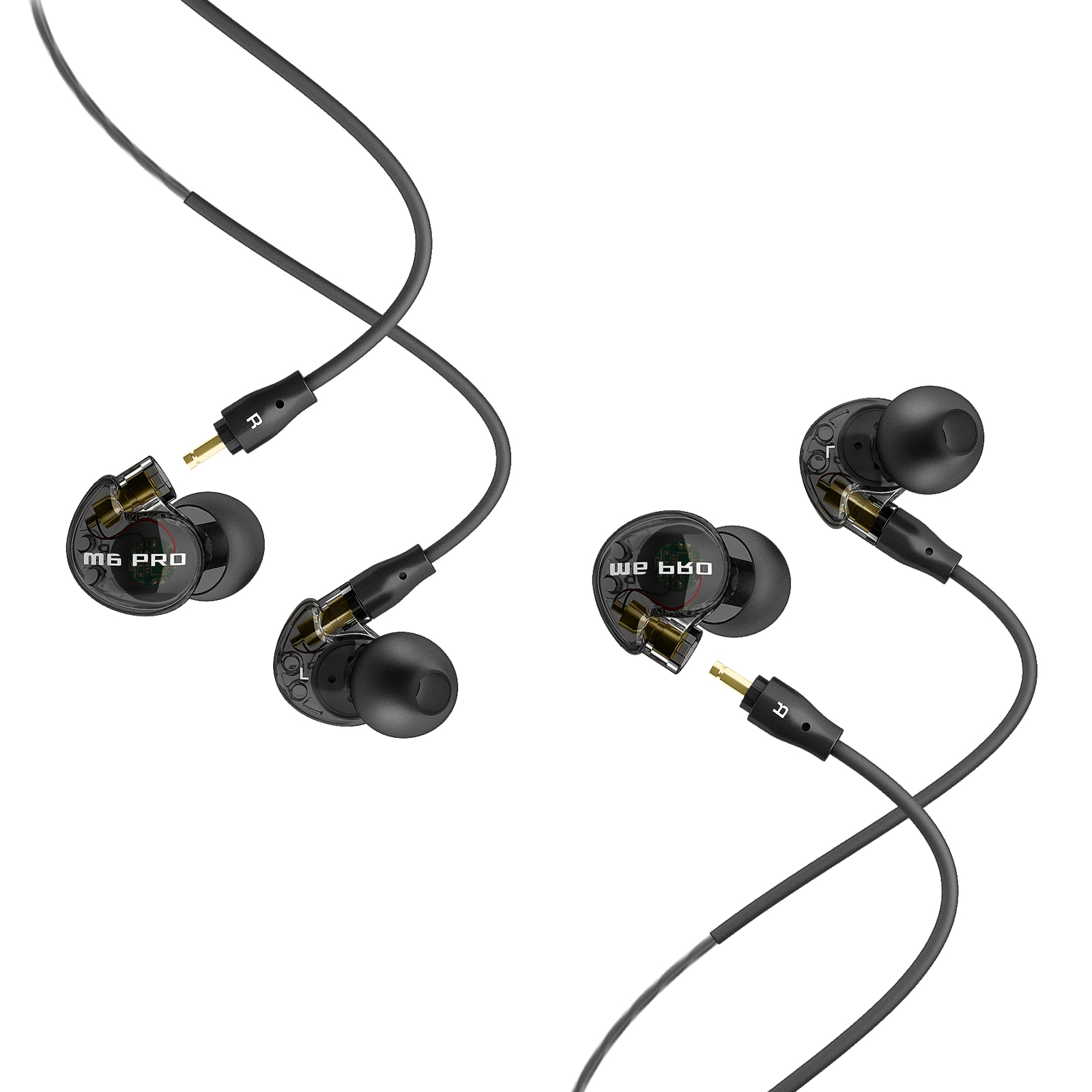 Mee Audio Electronics M6Pro M6 in-ear Monitor Headphones 2 sets - Smoke