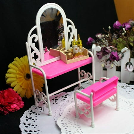 Fuuny Creative Design Baby Girls Toys Dressing Table Chair Adorable Bedroom Furniture Accessories Set Design