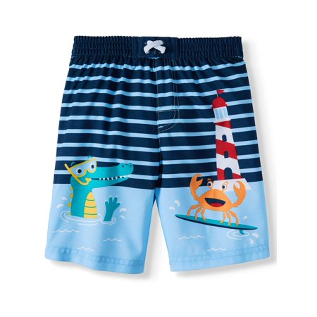 Swim Trunks (Toddler Boys) - Skull Swim Trunks