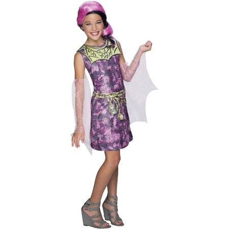 Kids Draculaura Costume (Deluxe Kid's Girls Draculaura Dress With Detached Sleeves)