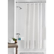 Mainstays Metallic Dots PEVA Waterproof Shower Curtain, 70 inches x 72 inches