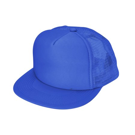 2daad7e1340 DALIX - DALIX Classic Trucker Cap Flat Bill Adjustable Snapback 5 Panel  Plain Hat Royal Blue - Walmart.com