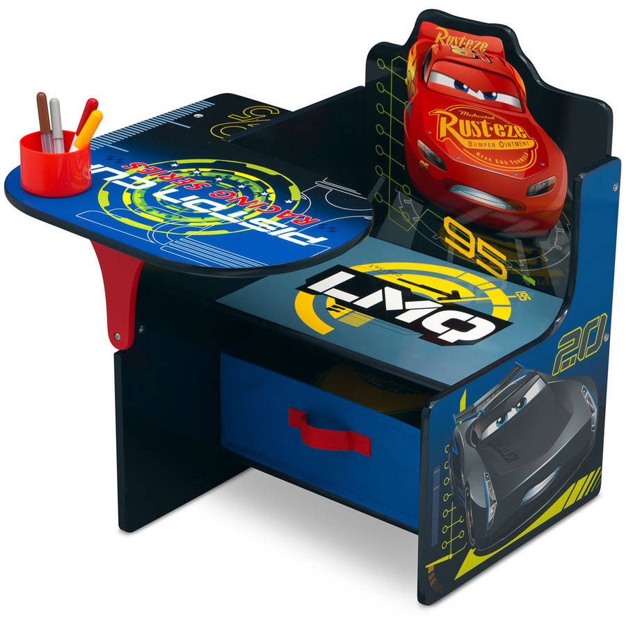 Disney/Pixar Cars Chair Desk with Storage Bin