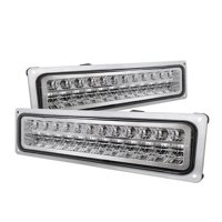 Xtune Chevy C10 88-98 LED Bumper Lights Chrome CPL-CCK94-LED-C