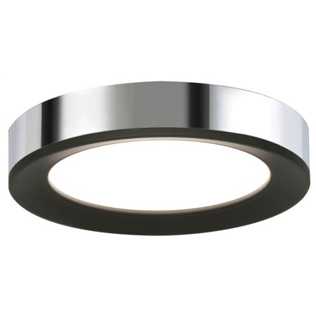 - LED Ceiling Light in Black Polished Chrome (12 in. Dia x 2 in. H)