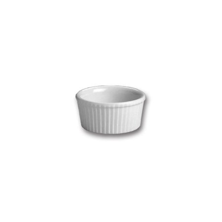 Hall China 837-WH White 2 Oz. Fluted Ramekin - 36 / -