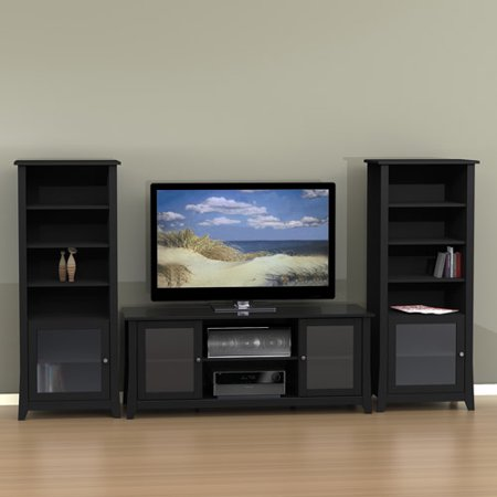 Tuxedo Entertainment Center with Curio Cabinet, for TVs up to 60;