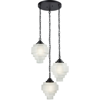 Pendants 3 Light With Oil Rubbed Bronze and White Glass Metal E26 89 inch 0 Watts