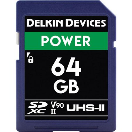 Delkin Devices DDSDG200064G 64GB Power SD Memory Card UHS-II 2000x (V90) Delkin Sd Pro Card