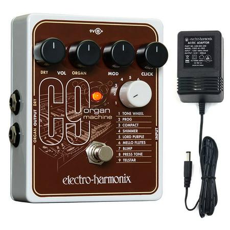 Machine Effects Pedal - Electro-Harmonix C9 Organ Machine Effects Pedal w/power supply