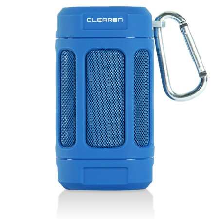 Portable Waterproof Bluetooth 4.0 Speaker by CLEARON - Great for Outdoors, Hiking & Bike w/ 12 Hours of Playtime & 100 ft. Bluetooth Range - Premium Sound Quality Loud Mini Speaker