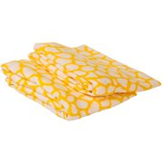 Bacati - Ikat Giraffe Crib/Toddler Bed Fitted Sheets 100% Cotton Muslin 2 Pack, Yellow