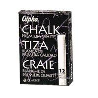 Quartet Alpha Golden White Chalk, 12-Colors