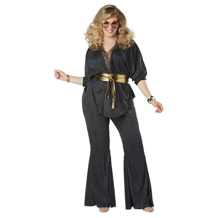 Disco Dazzler Women's Plus Halloween Costume - Plus Size Harlequin Halloween Costume