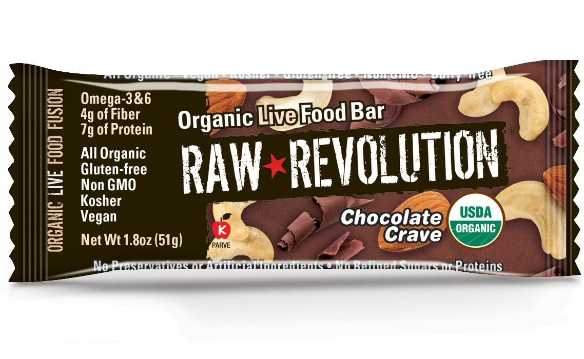 Raw Revolution Organic Live Food Bar, Chocolate Crave, 1.8 Oz, 12 Ct