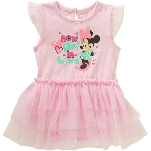 Minnie Mouse Newborn Baby Girl License Fashion Tutu Dress