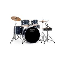 """Mapex Rebel 22"""" Bass Drum 5-Piece Drumset w/ Hardware & Cymbals - Royal Blue RB5294FTCYB"""