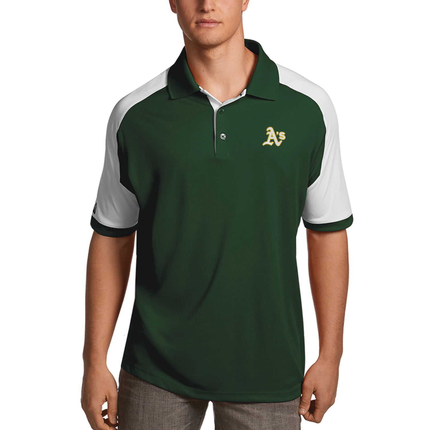 Oakland Athletics Antigua Century Polo - Green/White