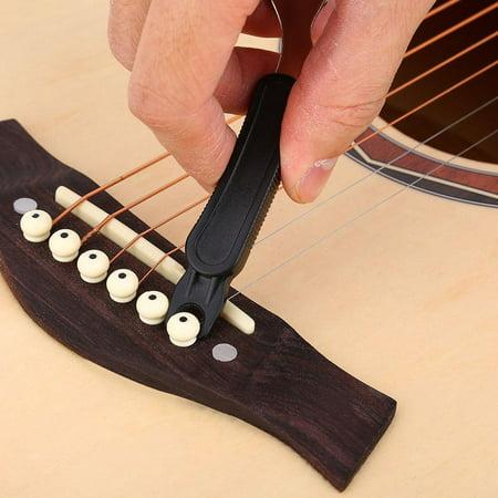 - Knifun 3 in 1 Multi-functional Guitar String Pegs Winder Cutter Bridge Pin Puller Maintenance Tool, Bridge Pin Puller, Peg Winder