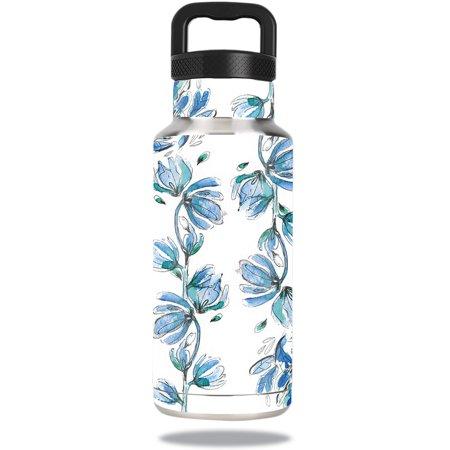 MightySkins Protective Vinyl Skin Decal for Ozark Trail Water Bottle 36 oz wrap cover sticker skins Blue Vines