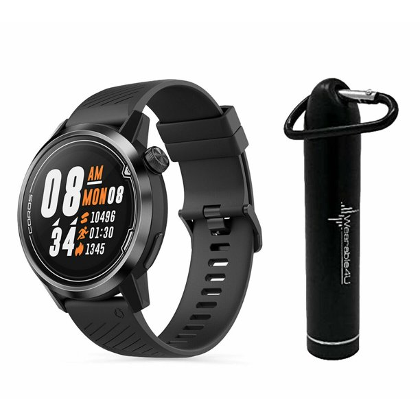 Coros APEX Premium Multisport Watch 42mm with Wearable4U Compact Power Bank Bundle (Black/Gray)