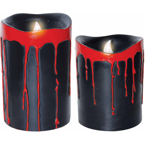 Black Blood Dripping Candles