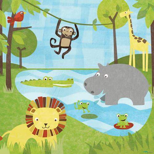Oopsy Daisy Too's Safari Canvas Wall Art, 21x21