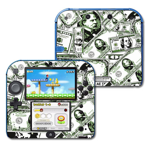 Mightyskins Protective Vinyl Skin Decal Cover for Nintendo 2DS wrap sticker skins Phat Cash