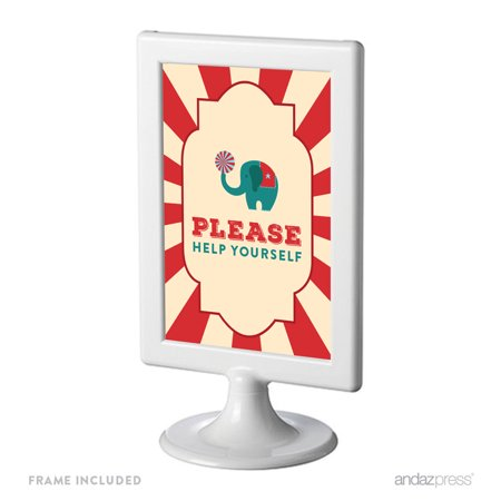 Please Help Yourself Carnival Circus Birthday Framed Party - Dark Circus Halloween Party