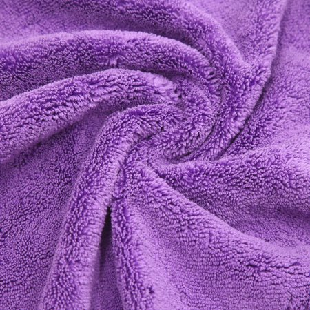 2Pcs Microfiber Car Wash Cleaning Towel Buffing Cloth Polishing Tool Blue Purple - image 2 de 5