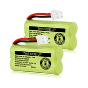 Imah Imah Bt183342/Bt283342 2.4V 400Mah Ni-Mh Battery Pack, Also Compatible With At&T Vtech Cordless Phone Batteries Bt166342/Bt266342 Bt162342/Bt262342 2Sn-Aaa40H-S-X2, Pack Of 2 Battery