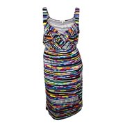 Spense Women's Geo-Print Draped Knit Jersey Dress