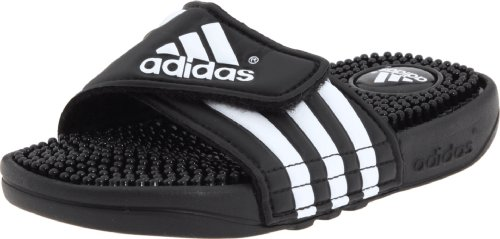Adidas 078285: Adissage Big Kids Sandals Black White Black by adidas Kids Performance Footwear