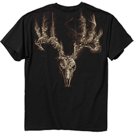 Buck wear dead deer walking black short sleeve t shirt 2x for Two bucks t shirts