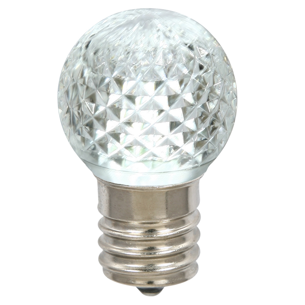 G40 Faceted LED Pink Bulb E12 .38W