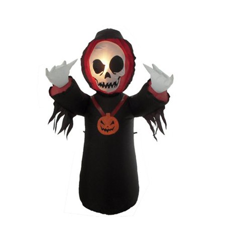 The Holiday Aisle Halloween Inflatable Grim Reaper - Grim Reaper Decorations