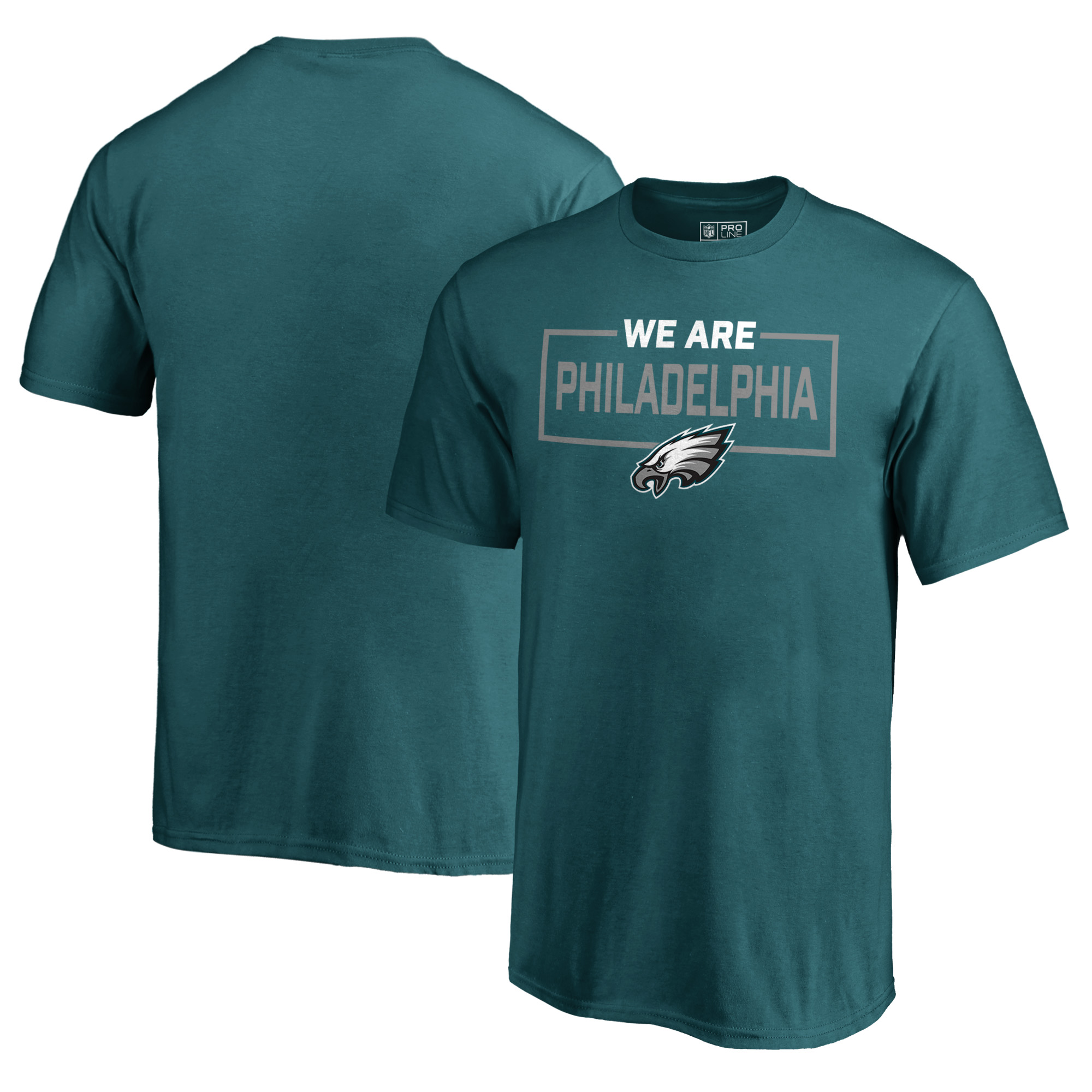 Philadelphia Eagles NFL Pro Line by Fanatics Branded Youth We Are Icon T-Shirt - Midnight Green